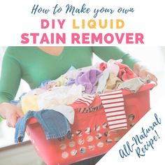 A simple recipe to make your own DIY Stain Remover! This works so well on everyday stains like food, grease, and dirt and mud. Grease Stains, Tea Stains, Remove Stains, How To Make Diy, Make Your Own, Make It Yourself, Deep Cleaning Tips, Cleaning Hacks, Cleaning Checklist