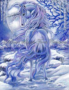 Ice by on DeviantArt Unicorn Fantasy Myth Mythical Mystical Legend Licorne Enchantment Einhorn unicorno unicornio Единорог jednorožec Eenhoorn yksisarvinen jednorożca unicórnio Egyszarvú Kirin Unicorn And Fairies, Unicorn Fantasy, Unicorn Horse, Unicorns And Mermaids, Unicorn Art, Fantasy Kunst, Fantasy Art, Unicorn Painting, Unicorn Tattoos