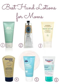 Best Hand Lotions for Moms - The Aveda one is my fave!