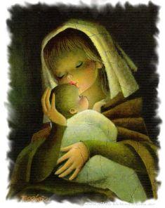virgen maría y niño jesús