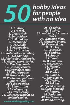 Hobbies for women in their 30s