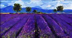 Provence Lavender - oil on canvas by Cara of Garden Laundry