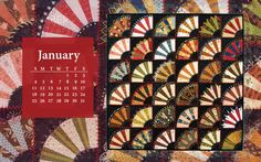 Free Quilt Calendar Computer Wallpaper: January from our friends at Landauer.