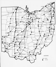pinterest ohio history | Ohio History / Map of the Underground Railroad, 1860. created 2004