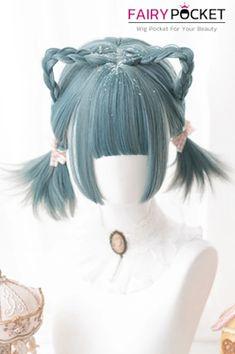Kawaii Hairstyles, Pretty Hairstyles, Wig Hairstyles, Anime Wigs, Anime Hair, Cosplay Hair, Cosplay Wigs, Kawaii Wigs, Lolita Hair