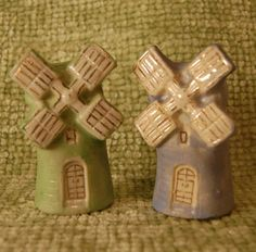 Vintage Dutch Windmill Salt and Pepper Shakers by VintageAncestors