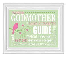 GODMOTHER Gift  Gift from Godchild  by KreationsbyMarilyn on Etsy, $15.00
