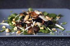 http://www.recipebridge.com/g/514/923869522/warm-mushroom-salad-with-hazelnuts-and-pecorino