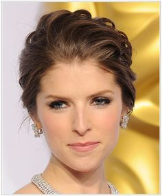 Anna Kendrick has cool, fair skin with medium and light brunette tones in her hair. This soft dewy makeup look is perfect for her hair colour, blue eyes and flawless complexion. Overall, this is a light and feminine look that will work well for day or night. Anna has used soft brown eye shadow on her lids to make her blue eyes pop, with dark brown smoky shadow near the lash line