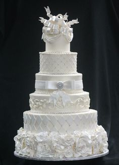 Six-Tiered White on White, each layer a different theme