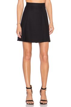Vince Ottoman Knit Skirt in Black | REVOLVE