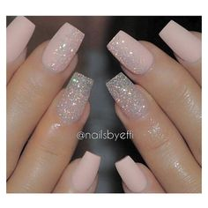 Light pink nails ❤ liked on Polyvore featuring beauty products, nail care, nail treatments and nails
