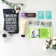 We spy some Under My Skin day/night moisturizer || How beautiful is this flat lay RG by  @sweet.melaka of what was inside her July @secretsorganicbox || Just in time to keep your skin nourished with this #Aussie cold snap || Click the link in our bio to get your hands on #vegan #organic #natural skincare that works.