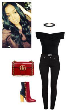 """Rich Girl Lifestyle"" by audylove ❤ liked on Polyvore featuring Gucci, Chicwish and Paige Denim"