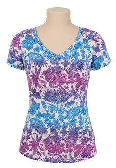 Floral Print Burnout Tee available at #Maurices