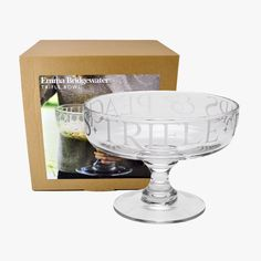 Would love - would use as a fruit bowl or with baubles and fairy lights in at christmas Black Toast Glass Trifle Bowl Boxed