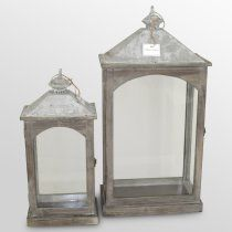 Soft and rustic lanterns