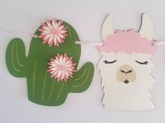 This sweet llama banner is perfect for highchair photoshoots, party or room décor. Llama banner can be made in colors shown or choose your own. *Comment if you would like to customize the colors. Baby Shower Tags, Baby Shower Parties, Baby Shower Themes, Baby Shower Decorations, Baby Showers, Alpacas, Baby First Cake, Cake Baby, Cake Table Decorations