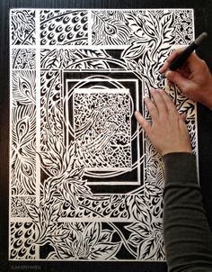 Elaine Penwell... An astounding paper cut artist. One of my favorites!