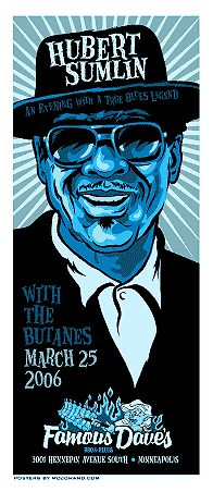 Awesome Concert Posters | hubert sumlin concert poster signed by grego awesome gig poster from