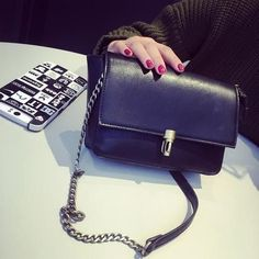612653192080 Elegant everyday stylish handbag for the modern woman Carries all your  daily essentials Interior pockets to hold all your valuables Metal chain  shoulder ...