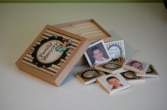 family picture matching game. Awesome homemade gift idea.