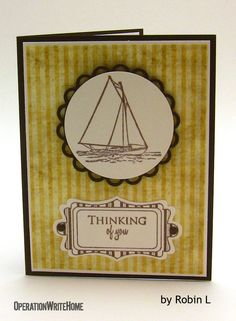 Sailboats are great images for guy cards