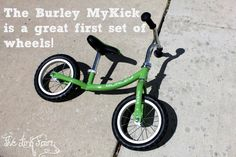 The Burley MyKick is the latest from Burley! A new balance bike for kids, the MyKick helps to teach them to balance while riding! Check out my review of the MyKick by clicking the photo!  #Burley @Michelle Burley #kids #bike #outdoors