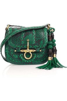 Gucci - python shoulder bag. Not sure if this is made of real pythons - I hope not! Slytherins won't like it.