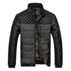 Urbanstox Exclusive Quilted Puffed Bomber Jacket in Heather Gray. Size: L (US Small)