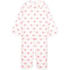 Powell Craft, Kids Nightwear, Girls Pajamas, Cotton Pyjamas, Little Girl Outfits, Crafts For Girls, Night Gown, Pink Girl, White Cotton
