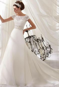 FTW Bridal Wedding Dresses Wedding Dresses Online, Wedding Dress Plus Size, Collection features dresses in all styles as well as more traditional silhouettes. Customize your bridal gown now! Ivory Lace Wedding Dress, Buy Wedding Dress, Modest Wedding Dresses, Bridal Dresses, Wedding Gowns, Mori Lee Wedding Dress, Short Sleeved Wedding Dress, Bateau Wedding Dress, Reception Dresses