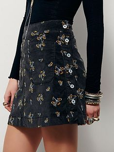 Good Times Printed Mini Skirt from free people. I like the coal combo color, and I wear a 4