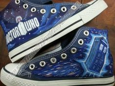 doctor who converse galaxy converse doctor by handpaintedshoes2014, $79.00