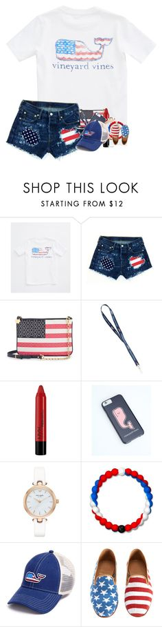 """""""Hope y'all are having a 🐳ful 4th of July"""" by ajgswim on Polyvore featuring Vineyard Vines, Draper James, NYX, Kate Spade and Lokai"""