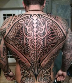 Tribal Tattoos For Guys Back Piece