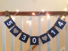 wedding date banner! love!