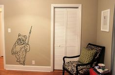 Star Wars Ewok Wicket vinyl wall decal, Birthday gifts, Wall art, Baby shower gifts on Etsy, $29.99