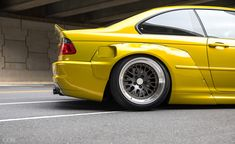 Widebody Phoenix Yellow BMW Bagged And Modified E46 330, Wheel Of Choice, Bmw E46 Sedan, E36 Coupe, Custom Headlights, Bmw Girl, Bmw Wallpapers, Bmw 1 Series, Bmw S