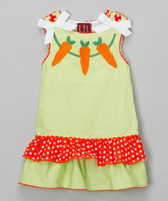 Another great find on #zulily! Green & Orange Carrot Dress - Infant & Toddler #zulilyfinds