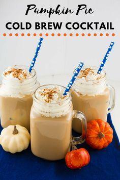 Pumpkin Pie Cold Brew Cocktail | Pumpkin Pie Cocktail | Thanksgiving Cocktail | Sweet Pumpkin Pie Cocktail | MomTrends.com #pumpkinpiecoktail #thanksgivingcocktail #thanksgivingrecipe #cocktail
