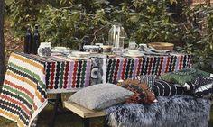 Räsymatto tablecloth / fabric from Finnish design label Marimekko. emma b. - Scandinavian design shop - Oudegracht 218 / Hoek Hamburgerstraat Utrecht www.emma-b.nl Marimekko servies, stoffen en kussens.