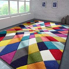 Spectrum Limbo Multicoloured Rugs - Free UK Delivery - The Rug Seller