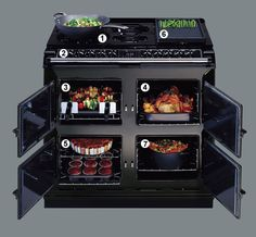 Six-Four Dual Fuel key features... one of the Aga ovens of my dreams.