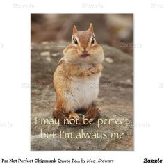 I'm Not Perfect Chipmunk Quote Poster