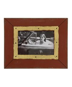 This Red & Yellow Winston Picture Frame is perfect! #zulilyfinds