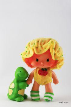 [KENNER] Strawberry Shortcake - Modèle: Apple Dumplin Année : 1981 Série : Seconde série Edition: Particularités: accompagné de son animal Tea Time the Turtle