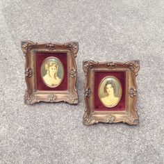 Your guests will be jealous of these vintage cameos. Antique Pictures, Vintage Home Decor, Wall Decor, Portraits, Antiques, Frame, Awesome, Handmade, Stuff To Buy