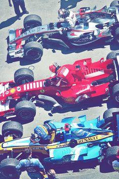 From top to bottom:  Kimi Raikkonnen  Michael Schumacher  Fernando Alonso  Grand Prix Of Canada 2006