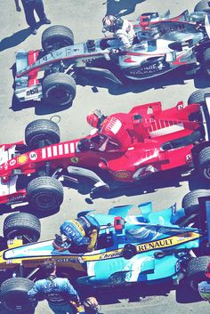 From top to bottom: Kimi Raikkonnen Michael Schumacher Fernando Alonso Grand Prix Of Canada 2006